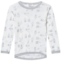 Joha Long Sleeve Tee Beach House Print Beach House