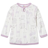 Joha Zoo Long Sleeve Tee Fair Orchid Zoo AOP Girl