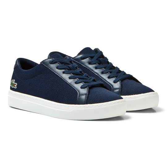 Lacoste L.12.12 Texturized Piqué Canvas Sneakers Navy 003