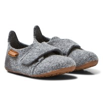 Bisgaard Wool Velcro Home Shoe Grey 70 Grey