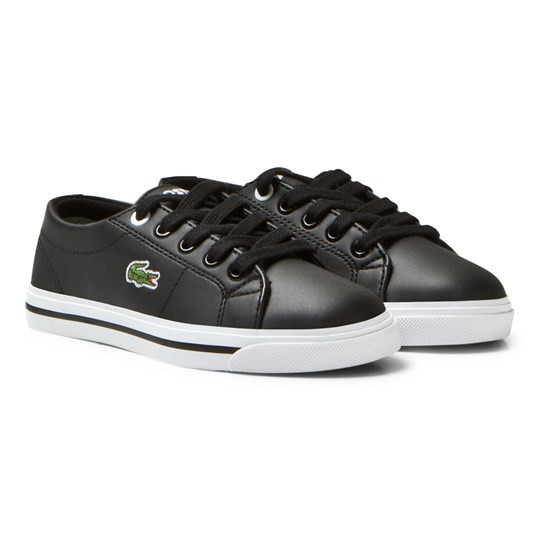 Lacoste Black Marcel Synthetic Leather Children Court 02H