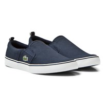 Lacoste Glazon Slip On Junior Skor Marinblå 003