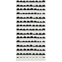 ferm LIVING Half Moon Wallpaper - Black Black
