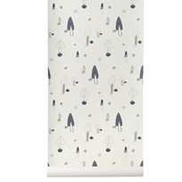 ferm LIVING Forest Wallpaper - Blue Blue