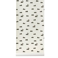 ferm LIVING Rabbit Wallpaper - Off-White Off white