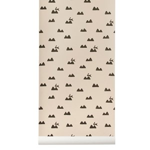Image of ferm LIVING Rabbit Wallpaper - Rose One Size (458463)