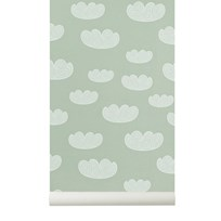 ferm LIVING Cloud Wallpaper - Mint Mint