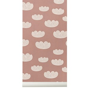Image of ferm LIVING Cloud Wallpaper - Rose (2743703243)
