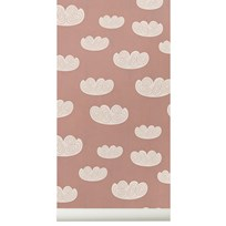ferm LIVING Cloud Wallpaper Rose Multi