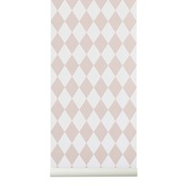 ferm LIVING Harlequin Wallpaper - Rose Multi