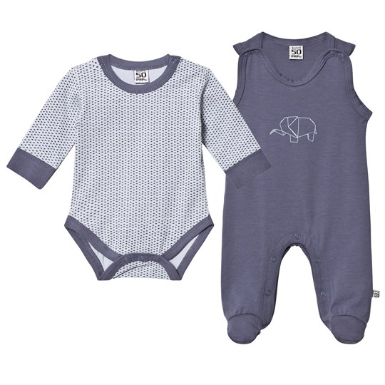 Pippi 2-Pack Footed Baby Body/Baby Body Grisaille Grisaille