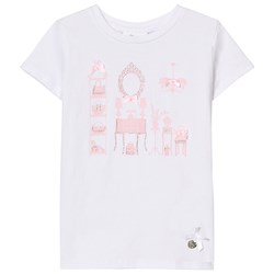 Le Chic White Room Print and Diamante Tee