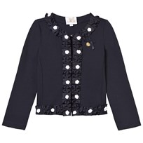 Le Chic Navy Blazer with Rosette Trims 190