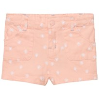 Margherita Kids Pink and White Spot Twill Shorts Pink