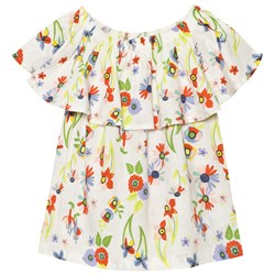 Margherita Kids White Floral Frill Blouse