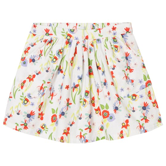 Margherita Kids Multi Floral Print Skirt White Multi