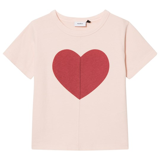 Wynken Pink Broken Heart Tee DEEP RED DUST PINK