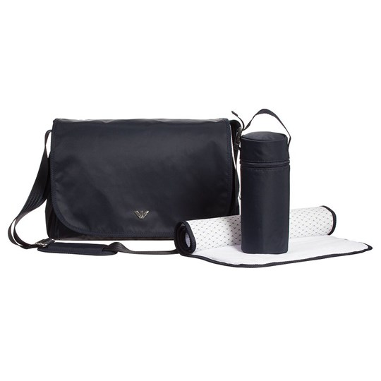 Emporio Armani Navy Nylon Branded Changing Bag Navy