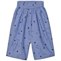Wynken Chambray 1234 Star Print Cullottes NAVY CHAMBRAY