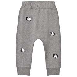 Wynken Grey All Over Wink Face Embroidered Sweat Pant
