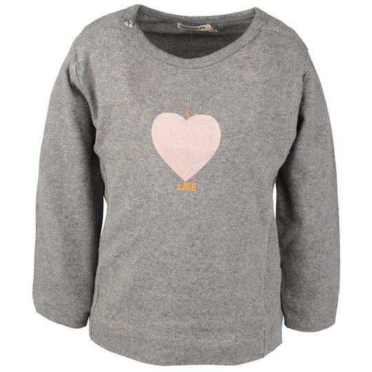Imps & Elfs Tee Grey With Heart Musta