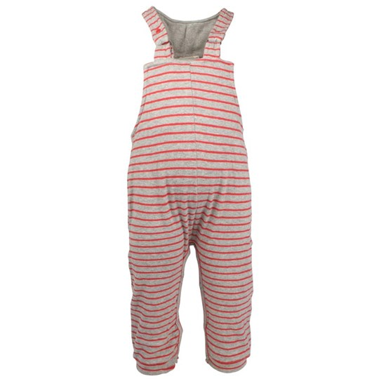 Imps & Elfs Overall Grey/Red Stripes Red