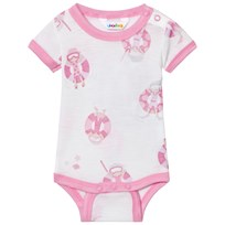 Joha Short Sleeve Baby Body Pink Beach Life Print Beach Life Girl