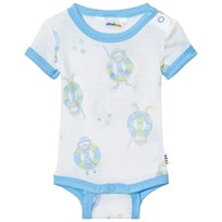 Joha Short Sleeve Baby Body Blue Beach Life Print Beach Life Boy