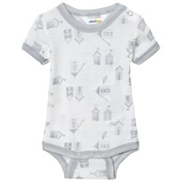Joha Short Sleeve Baby Body Beach House Print Beach House