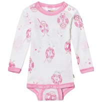 Joha Long Sleeve Baby Body Pink Beach Life Print Beach Life Girl