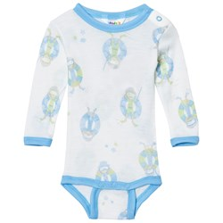 Joha Long Sleeve Baby Body Blue Beach Life Print