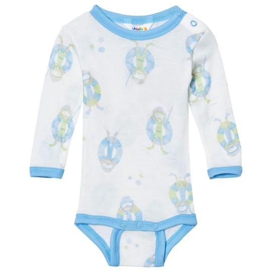 Joha Long Sleeve Baby Body Blue Beach Life Print Beach Life Boy