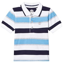 Timberland Blue and Navy Jersey Polo 838
