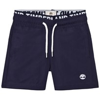 Timberland Navy Branded Waistband Swim Shorts 85T