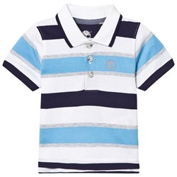 Timberland Stripe Jersey Polo Pacific Blue, Navy and White