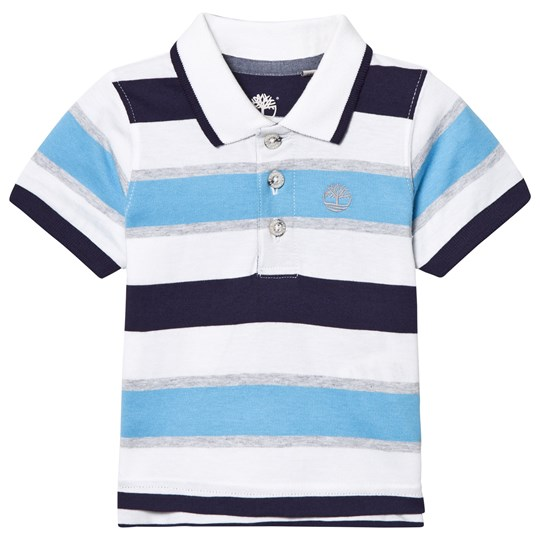 Timberland Stripe Jersey Polo Pacific Blue, Navy and White 838