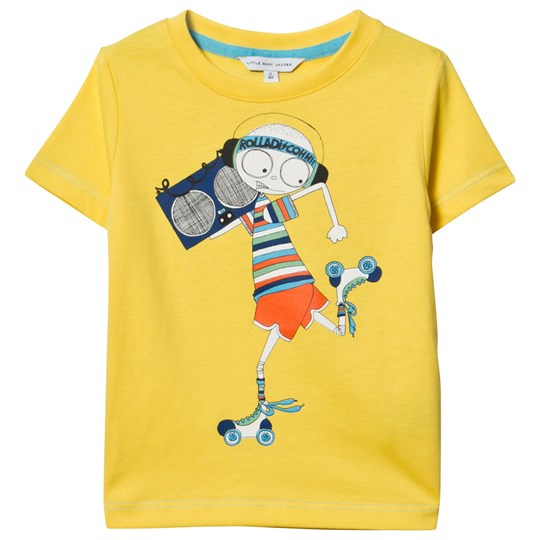 Little Marc Jacobs Yellow Mr Marc Rollerdisco Tee 577