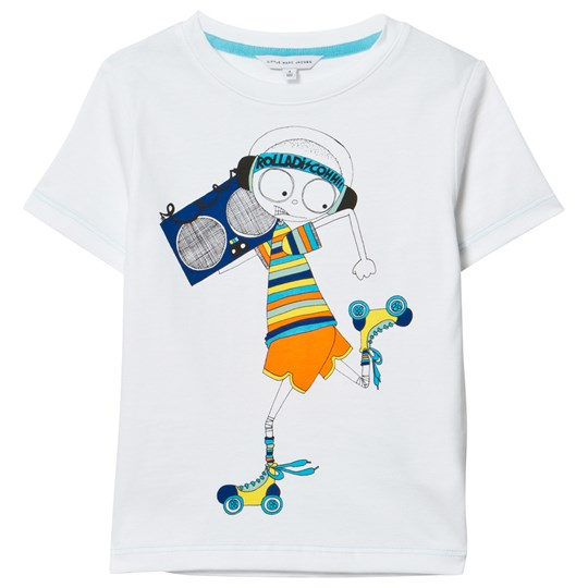 Little Marc Jacobs White Mr Marc Rollerdisco Tee 10B