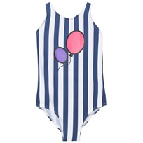 The BRAND Hbd Swim Suit Blue Stripe Pink Stripe