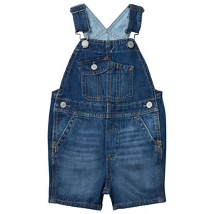 Image of GAP 1969 Denim Short Overalls Medium Wash 2 år (2743691895)