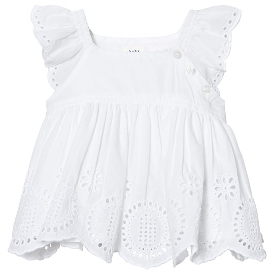 Gap Eyelet Flutter Topp Optic White OPTIC WHITE