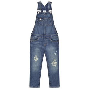 Image of GAP 1969 Rip & Repair Overalls Medium Wash M (8 år) (2743696931)