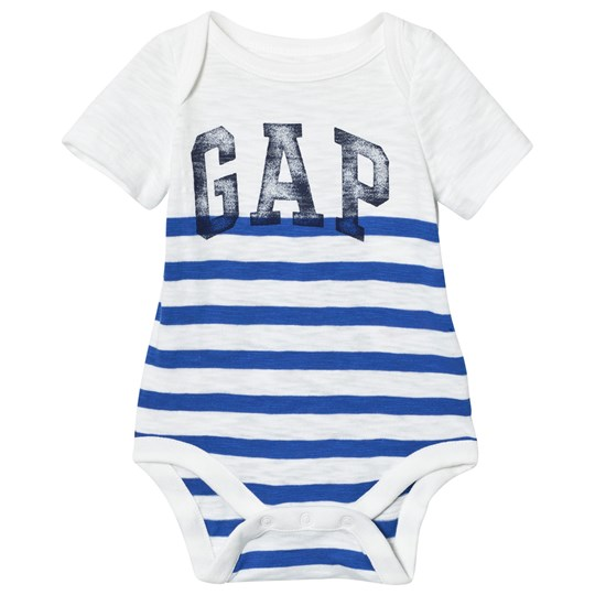 Gap Vintage Logo Randig Baby Body Brilliant Blue Brilliant Blue