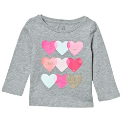 GAP Embellished Graphic Tee Hearts