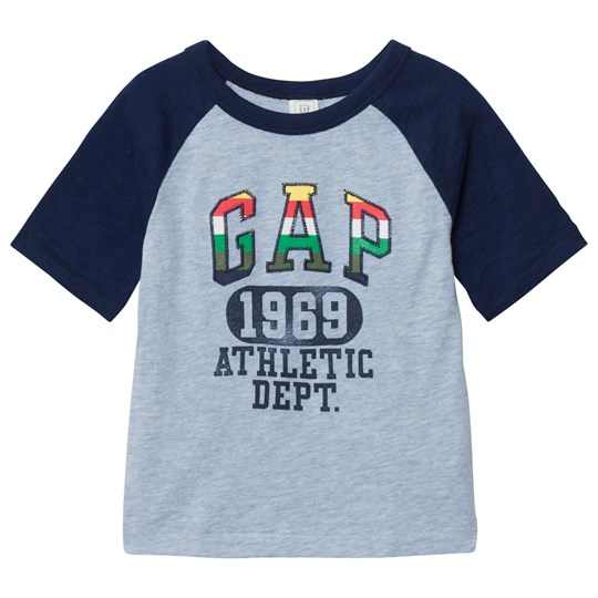 GAP Athletic Logo Slub Baseball Tee Deep Cobalt DEEP COBALT