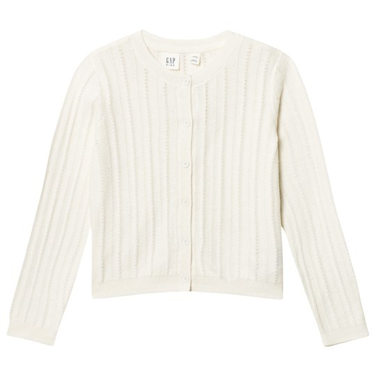 GAP Ribbed Crew Cardigan Ivory Frost IVORY FROST