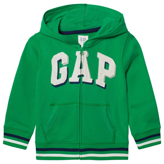 GAP Shadow Logo Fleece Zip Hoodie Parrot Green PARROT GREEN 385