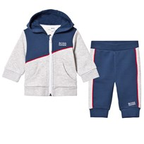 BOSS Grey, Red and Navy Branded Tracksuit 804