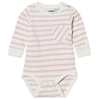 eBBe Kids Deli Randig Baby Body Off White/Peachy Pink Offwhite/Peachy pink stripe