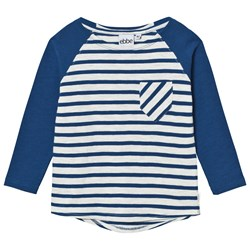 ebbe Kids Darby Raglan Off White/Seaside Blue Stripe